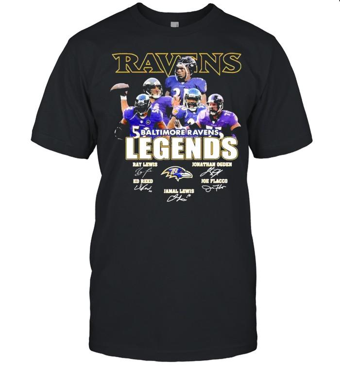 Baltimore ravens legends signatures shirt