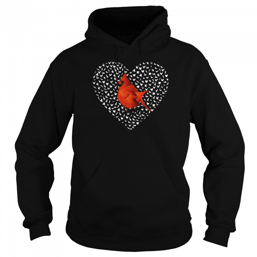 Cardinal Heart Personalized shirt Unisex Hoodie