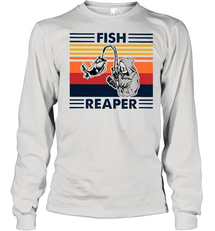 Fish reaper vintage shirt Long Sleeved T-shirt