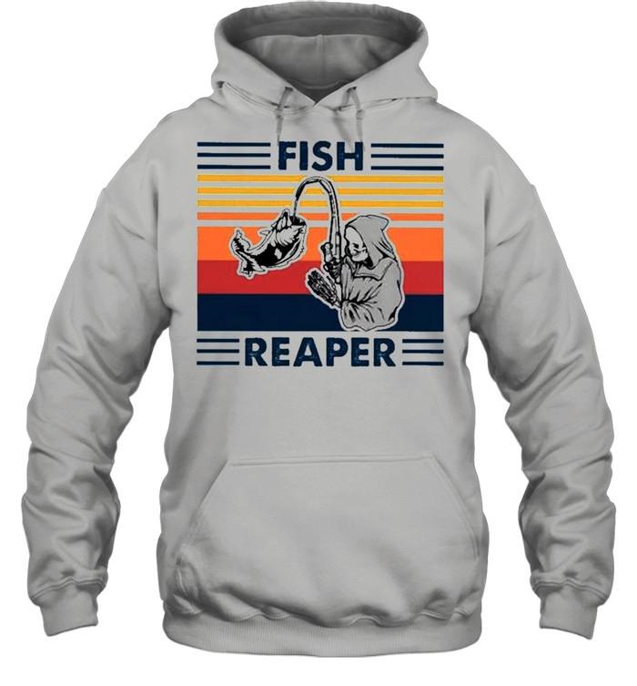 Fish reaper vintage shirt Unisex Hoodie