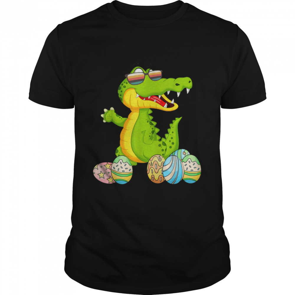Happy Easter Crocodile Crocodile Wearing Sunglasses shirt