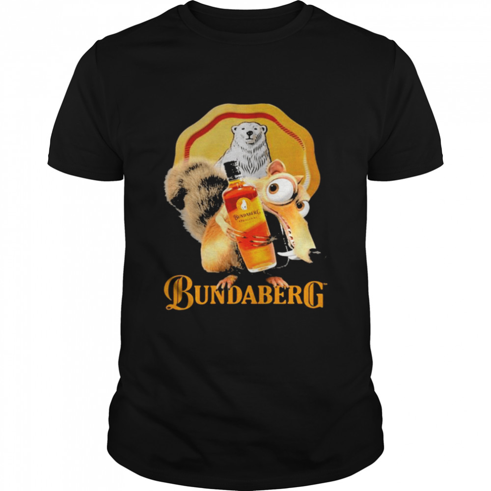 Squirrel Scrat With Logo Bundaberg Shirt