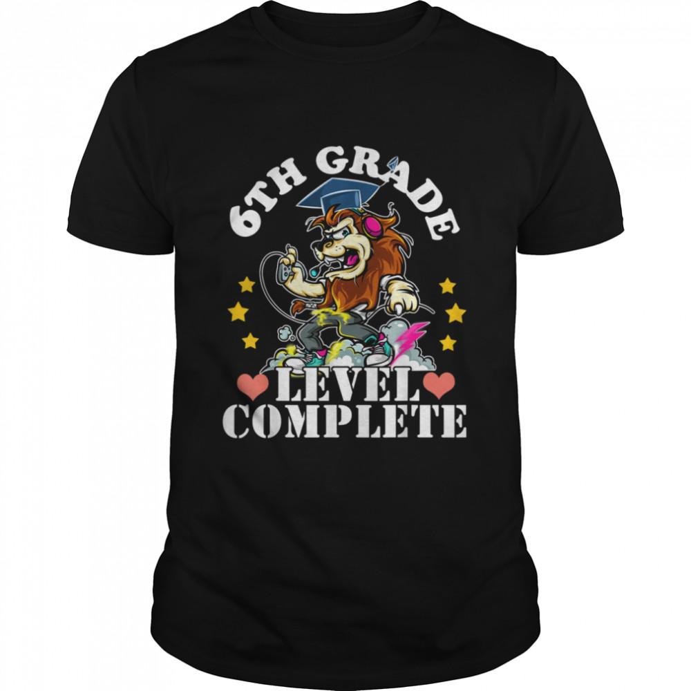 6th Grade Graduation Lion Video Gamer Graduation 2021 Boy Shirt