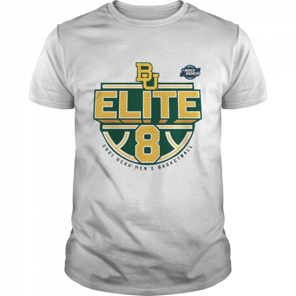Baylor Bears 2021 NCAA Men's Basketball Tournament March Madness Elite 8 Bound Tri-Blend shirt