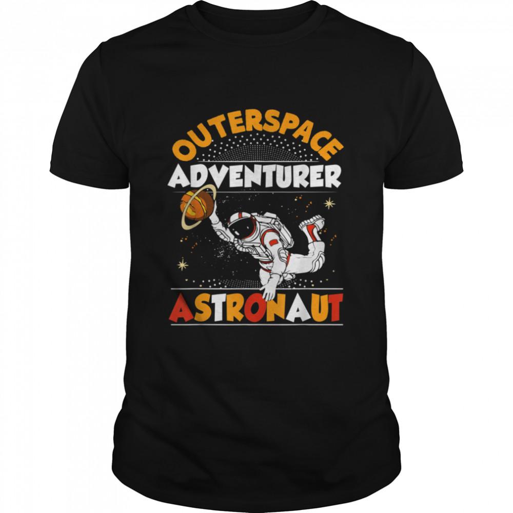 Outer Space Adventurer Astronaut Saturn Spaceship Rocket Shirt
