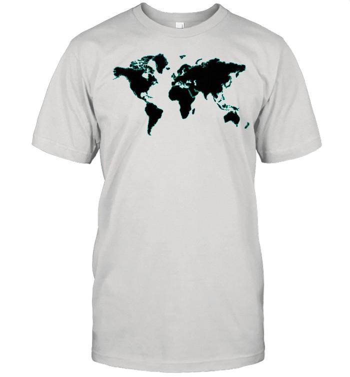 Internationale Weltflaggen und Weltkarte für Kinder junden Shirt