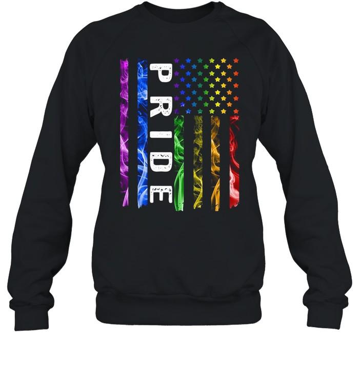Color Pride American flag shirt Unisex Sweatshirt