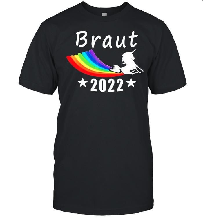 Unicorn LGBT Braut 2022 shirt