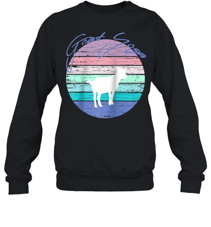 Goat Yoga Retro Sunset Silhouette Tee Pygmy Goat shirt Unisex Sweatshirt